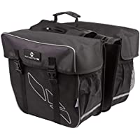 M-Wave Day Tripper Double Pannier Alforjas traseras Dobles, Capacidad 30 l, Unisex, Negro