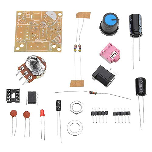 DXX-HR Mini Audio Amplifier Board Module Audio Power Electronic Kit LM386 DC 3-12V 3.5mm Super Woodworking Tools