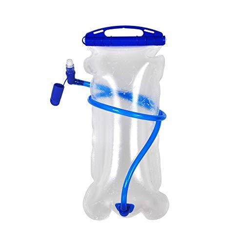 Bolsa de agua de apertura completa, bolsa de agua plegable de montañismo, gran capacidad de hidratación de 3 l para deportes al aire libre, color Color verdadero transparente., tamaño 1 pieza