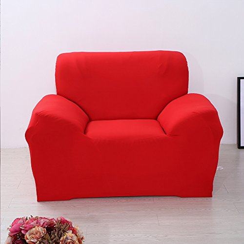 ParaCity Sitzbezug für Sofa / Sessel / Stuhl, hellrot, 1 seater:90-140cm