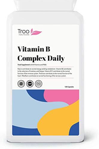 Vitamin B Complex Daily 100 Supplement - 120 Capsules | Minimum 100 NRV Daily Supplement | UK Manufactured