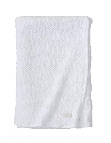 Essix Home Collection Malo Biancheria da Letto Plaid Cotone Bianco 132x 170cm