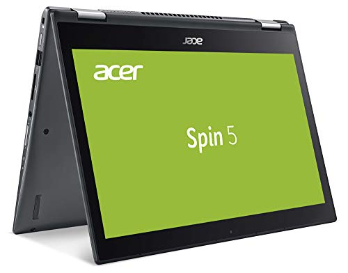 Acer Spin 5 (SP513-52N-54SF) 33,8 cm (13,3 Zoll Full-HD IPS Multi-Touch) Convertible Laptop (Intel Core i5-8250U, 8 GB RAM, 256 GB SSD, Intel UHD, Win 10 Home) grau