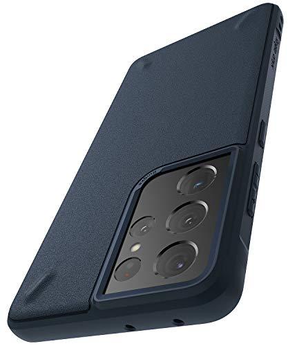 Ringke Cover Onyx Compatibile con Samsung Galaxy S21 Ultra, Custodia Antiurto Robusta TPU - Navy