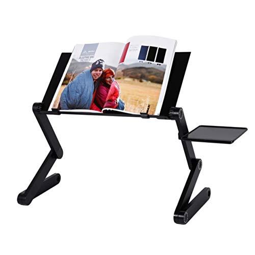 Escritorio portátil para ordenador portátil, soporte para sofá, escritorio de espacio aéreo, soporte para ordenador portátil, mesa plegable, mesa para ordenador portátil con bandeja de ratón extraíble