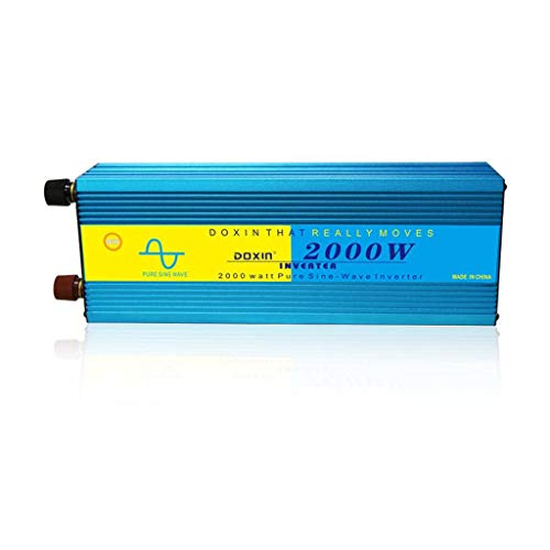 HKPLDE 2000 watt 12V Pure Sine Wave Inverter, Automotive Car Power Inverter, 1 220V AC outlets, DC to AC,Best Back Up Power Supply for RV,Home,Office-2000w
