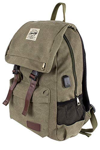 NOWI Heritage Canvas Rucksack (Olive)