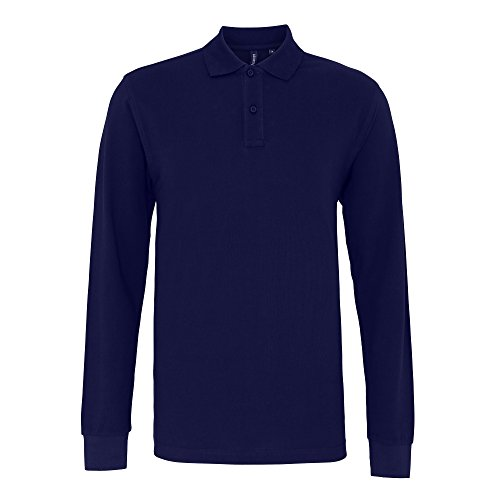 Asquith & Fox Men's Classic Fit Long Sleeved Polo, Bleu (Navy 000), XX-Large (Taille Fabricant: 2XL) Homme