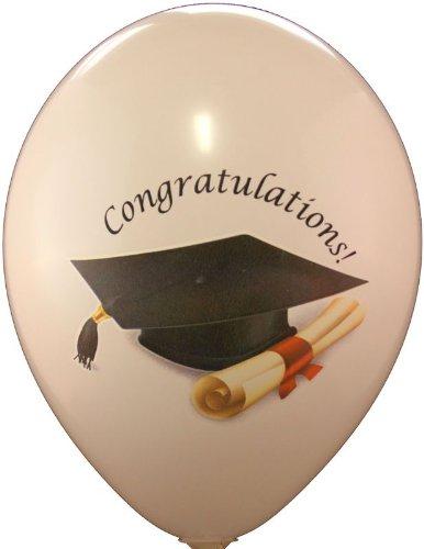 Party Luftballons Master Bachelor Doktorhut ca. 30 cm BUNT farbig Sortiert verpackt 8 Stück