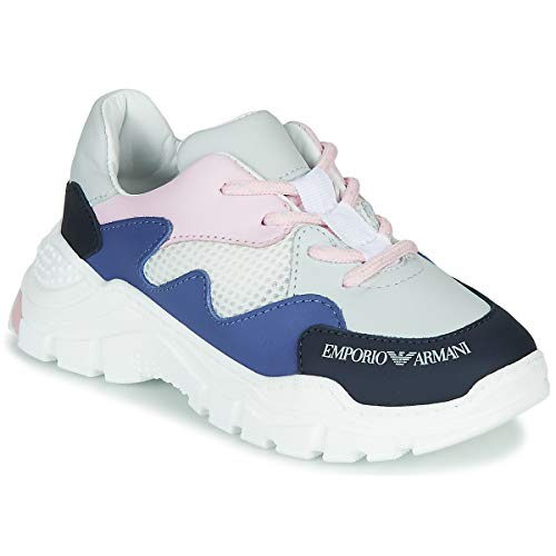 Emporio Armani Xyx008-xoi34 Sneaker Jungen Weiss/Blau - 31 - Sneaker Low Shoes