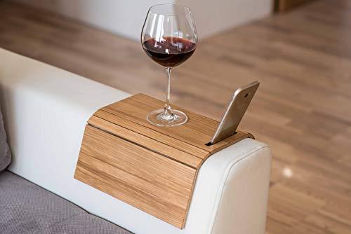 Vassoio in legno da divano, protezione per braccioli, tavolino da divano, sottobicchiere, vassoio per divano, portatelefono colore 3