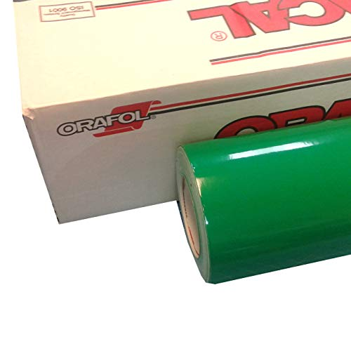 """24"""" x 30 Ft Roll of Glossy Oracal 651 Green Vinyl for Craft Cutters and Vinyl Sign Cutters"""