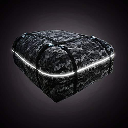 ULIGOTA Auto-Dachtasche & wasserdichte Cargo-Tasche mit Schutzmatte (17 Kubikfuß) für alle Fahrzeug-Dachträger