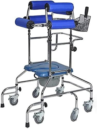 Andadores para ancianos Walker for Seniors Rollator Rollator Walker Walking Mobility Ayuda con la silla de inicio para el entrenamiento de rehabilitación de las extremidades inferiores, ruedas