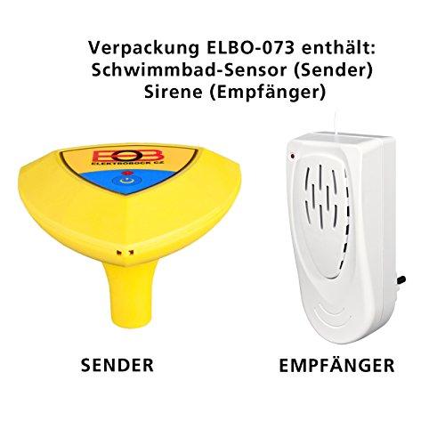 Bock électrique sans Fil Alarme de Piscine, 1pièce, Elbo de 073