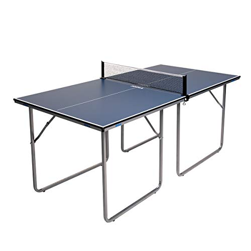 JOOLA Midsize Compact Table Tennis Table Great for Small Spaces and Apartments – Multi-Use Free Standing Table - Compact Storage Fits in Most Closets - Net Set Included - No Assembly Required!