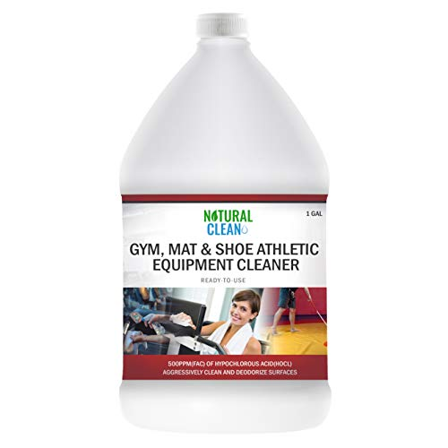 Hypochlorous Acid Professional Gym Cleaner (1-Gallon), Ready-to-Use 500PPM Hypochlorous Acid (HOCL), Aggressive Powerful Cleaning and Deodorizing for Gyms, Wrestling, Shoes, Athletic Cleaning, Natural Clean