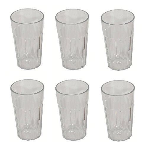 Viva Haushaltswaren - 6 pequeños Vasos/Vasos de Vino, Vasos de plástico Transparente...