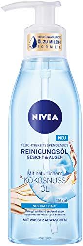 NIVEA Feuchtigkeitsspendendes Reinigungsöl im 1er Pack (1 x 150 ml), sanfte Gesichtsreinigung für normale Haut, mildes Reinigungsöl für Gesicht & Augen
