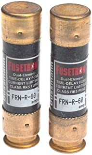 Bussmann BP/FRN-R-60 60 Amp Fusetron Dual Element Time-Delay Current Limiting Class RK5 Fuse, 250V Carded UL Listed, 2-Pack by Bussmann