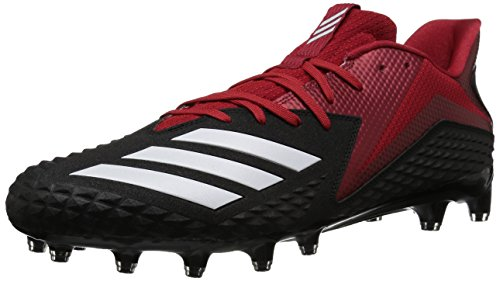 adidas Men's Freak X Carbon Mid Football Shoe, Black/White/Power Red, 8 M US
