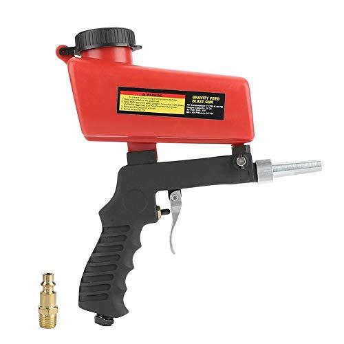 SandBlaster Gun Kit, 21 lbs pneumatische Sandstrahlpistole mit abnehmbarer Düse, tragbare Sandblasterpistole mit Trichter zum Entfernen von Rostfarben