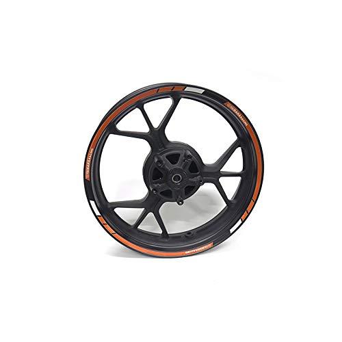 LDGF Para Y-amaha XJR 1300/Racer FJ1200nurohne ABS R6S motocicleta rueda pegatina raya reflectante llanta (color: 3)