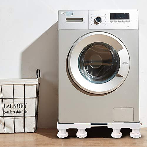 Bicaquu Pedestal de lavandería Ajustable con Base de refrigerador para Lavadora de 12 pies, Soporte Elevado