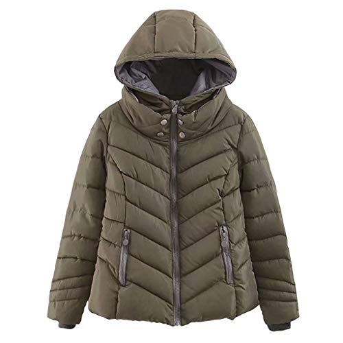 KPPONG Jacke Damen Dicke Daunenjacke Warm Steppjacke Übergangsjacken Soft Gesteppte Jacke Winterjacke Parka Outdoorjacke