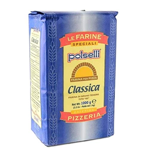 CLASSICA TIPO 00 Flour for Pizza / Pasta | All Natural | for Pizza, Pasta, and Baking | 1 PACK x 1 kg (2.2 lbs) by POLSELLI