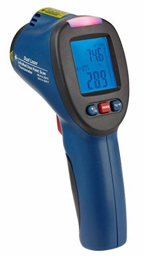 TFA Dostmann SCHIMMEL DETEKTOR Infrarot-Thermometer mit Taupunktermittlungund Doppellaser, Blau, 8x6x18 cm