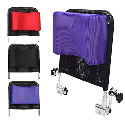 Soporte para La Cabeza del Reposacabezas De La Silla De Ruedas Cómodo Respaldo del Asiento Almohada Acolchada Ajustable para Adultos de sillas de universales portátiles, 16'-20',Negro