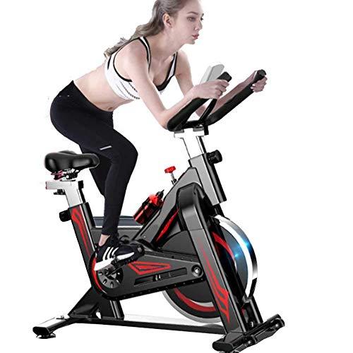 Bicicletas estáticas Ciclismo en interiores, entrenamiento cardiovascular, volante suave de 11 kg, manillar y asiento ajustables, sensores de frecuencia cardíaca y monitor de 6 funciones + pulso