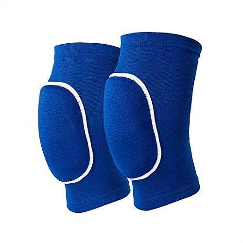 Non-Slip Knee Brace Soft Knee Pads Breathable Knee Compression Sleeve for Dance Wrestling Volleyball Basketball Running Football Jogging Cycling Arthritis Relief Meniscus Tear for Women Men Blue(M)