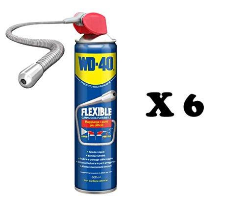 WD 40 Flexible 600 ml avec Paille flexible pour points inacessibili type Svitol