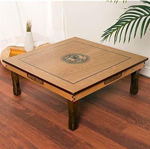 SHUJINGNCE Square 80x80cm Table de Table Pliante coréenne Pliable Pliable Luxe Salle de Salon Table pour Manger Traditionnel coréen Table Basse