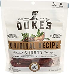 Dukes, Jerky Sausages Shorty Smoked Original, 4 Ounce