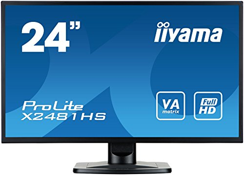 iiyama ProLite X2481HS-B1 60cm (23,6Zoll) VA LED-Monitor Full-HD (VGA, DVI, HDMI) schwarz