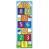 Melissa & Doug-Hop & Count Hopscotch Rug Juego Estampado, Multicolor (19402)