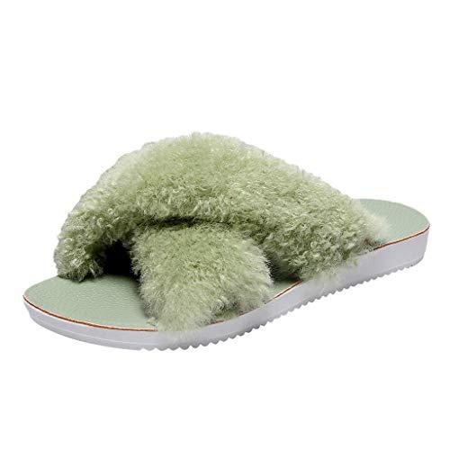 Anliyou Pantoffeln Damen Winter Herbst FrüHling elegant Hausschuhe für Mädchen stylisch weich plüsch Slippers Hauspantoffeln Indoor Outdoor Slippers Hausschlatschen