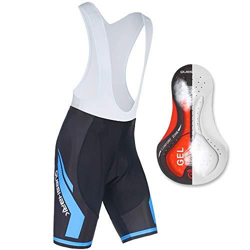 Culotte corto con tirantes de ciclismo para hombre con acolchado de gel 9D