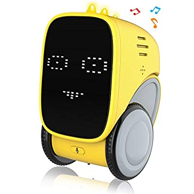 Intelligent Smart Robot Toy for Kids, OKK Voice and Touch Gesture Control Mini Robotics Rechargeable Toys Dancing, Walking, Singing, Robots for Toddler Age 5 6 7 8 Year Old Boys Girls Educational Gift by
