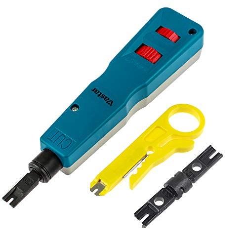 Vastar Network Wire Punch Down Impact Tool with Two Blades - 110 and BK &...
