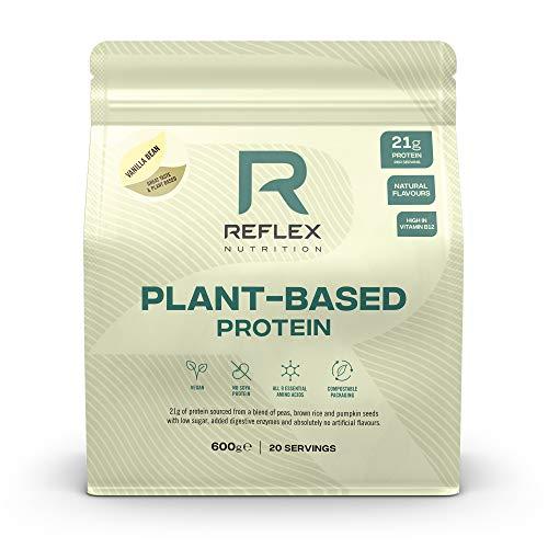 Reflex Nutrition Plant Based Vegan Protein | with B12 | Great Taste | Vegan Protein | (Vanilla Bean, 600g)