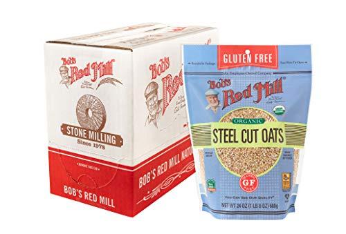 Bob's Red Mill Gluten Free, steel cut oats, 24 Oz (4 Pack)