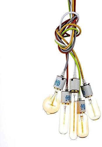 Kroonluchter hanglamp hoge kwaliteit pre-sales service kleurrijke kabel DIY decoratie moderne industriële hanger creatieve metaal stoffen plafondlamp