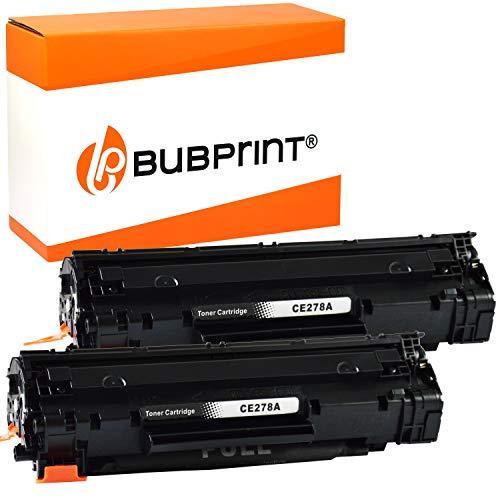 2 Bubprint Toner kompatibel für HP CE278A 78A für Laserjet Pro M1536DNF M1537DNF M1538DNF M1539DNF MFP P1566 P1600 P1606DN P1607DN P1608DN P1609DN Schwarz