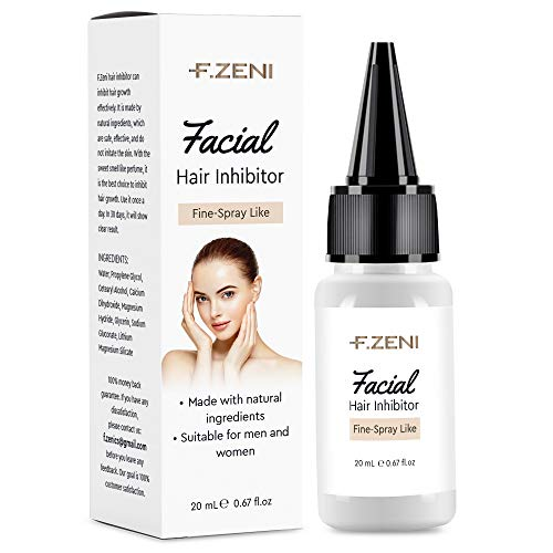 F.ZENI Hair Inhibitor, Painless Facial Hair Growth Inhibitor, Hair Removal for Women, Non-Irritating Hair Removal Inhibitor, for Face, Underarm, Arm, Leg, Bikini, with Pleasant Scent, 20ML