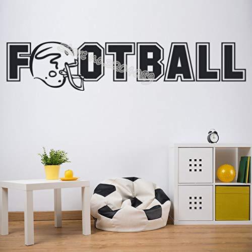 American Football Logo Sport Wandaufkleber Helm Wandtattoos Abnehmbare Wasserdichte Tapete Decor GYM Jungen Zimmer wandbild 56X15CM