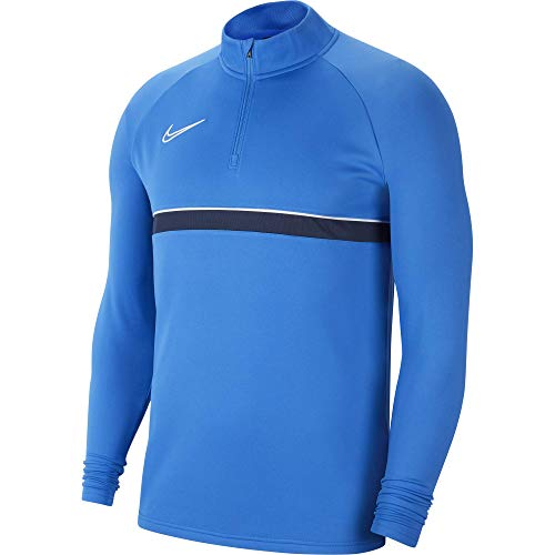 Nike Mens Dri-FIT Academy 21 Shirt, Royal Blue/White/Obsidian/White, M